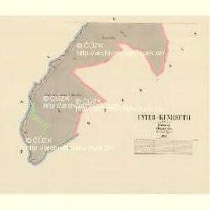 Unter Kunreuth - c1292-2-002 - Kaiserpflichtexemplar der Landkarten des stabilen Katasters