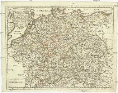 Empire d'Allemagne, divisé en ses dix cercles, ces cercles en leurs principaux estats