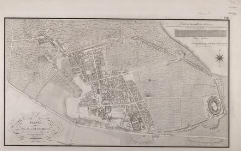 Pianta degli scavi de Pompei