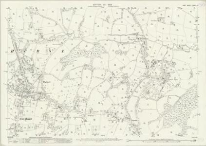 Kent LXXVIII.3 (includes: Hawkhurst) - 25 Inch Map