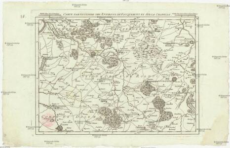 Carte particuliere des environs de Fauquemont et Aix-la Chapelle