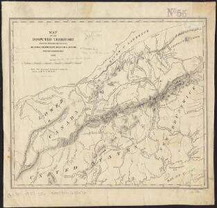 Map of the disputed territory [Maine] : reduced from the original of Messrs. Featherstonehaugh & Mudge, British commissioners