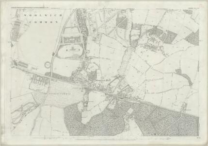 London (First Editions c1850s) LXXI (includes: Borough Of Greenwich; Borough Of Woolwich) - 25 Inch Map