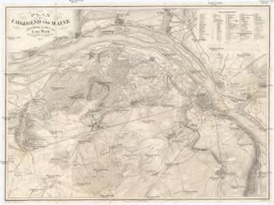 Plan der Umgegend von Mainz