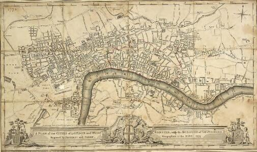 A PLAN of the CITIES of LONDON and WESTMINSTER with the BOROUGH of SOUTHWARK