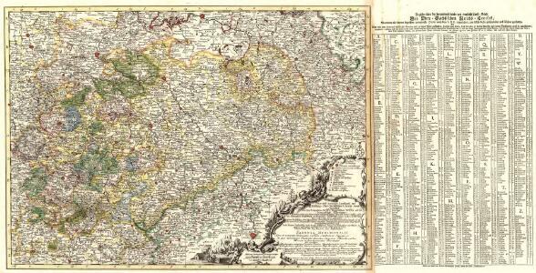 Neue und accurate Landkarte des Mittägig- Ober- Sächsischen K. Reichs- Creyß
