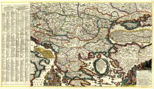 Mappa Generalis Danubii Principatum ab origine usque ejus influx um in mare nigrum