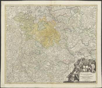 Mosellae Fluminis tabula specialis, in qua Archiepiscopatus et Electoratus Trevirensis in suas praefecturas accurate divisus ut et Eyfaliae Tractus ostenditur