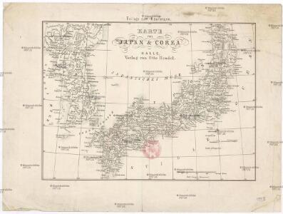 Karte von Japan & Corea