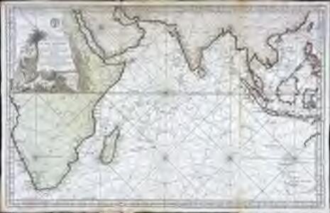 Carte reduite de l ocean oriental ou mer des Indes