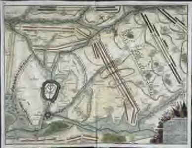 Plan tres exact des environs de Douay, Lens, Ecluse, et Arleux