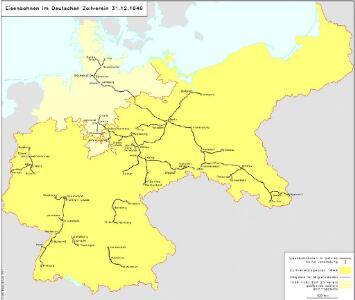 Eisenbahnen im Deutschen Zollverein 31.12.1846