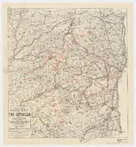 Van Loan's road map of the Catskills and vicinity : all of Greene County, most of Ulster and Delaware counties, and large portions of Albany, Schoharie, Otsego, and Sullivan counties