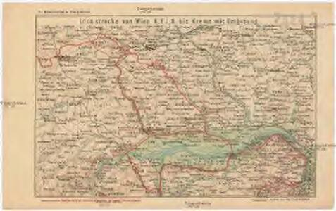 Localstrecke von Wien K. F. J. B. bis Krems mit Umgebung