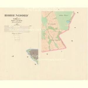 Hohendorf - c5583-1-005 - Kaiserpflichtexemplar der Landkarten des stabilen Katasters