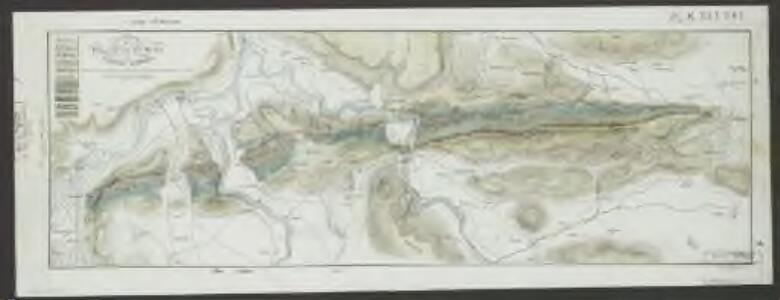 Carte der Umgebungen von Baden im Canton Aargau