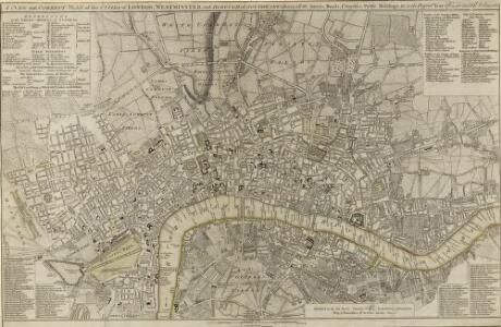A NEW and CORRECT PLAN of the CITIES of LONDON, WESTMINSTER, and BOROUGH of SOUTHWARK wherein all the Streets, Roads, Churches, Public Buildings &c. To the Present Year 1785 are exactly delineated