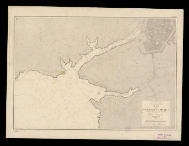 Plano del puerto de Ciudadela. Levantado en 1895 por la Comisión Hidrográfica