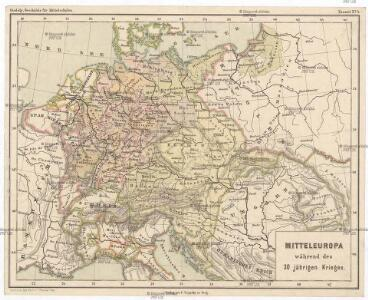 Mitteleuropa während des 30 jährigen Krieges.