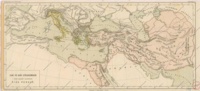 Země při moři Středozemském v době největší rozsáhlosti říše perské