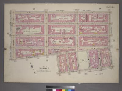 Plate 24, Part of Section 2: [Bounded by E. 4th Street, Clinton Avenue, Stanton Street, Orchard Street, E. Houston Street and Second Avenue.]