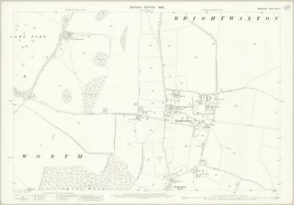 Berkshire XXVI.3 (includes: Brightwalton; Chaddleworth) - 25 Inch Map