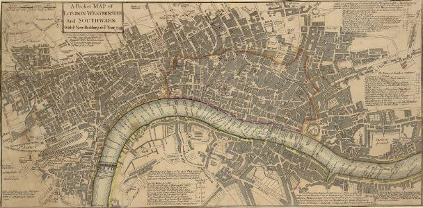 A Pocket MAP of LONDON, WESTMINSTER And SOUTHWARK With ye New Buildings to ye Year 1745