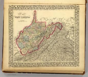 County map W. Va.