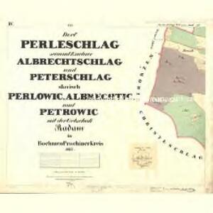 Perleschlag - c5694-1-004 - Kaiserpflichtexemplar der Landkarten des stabilen Katasters