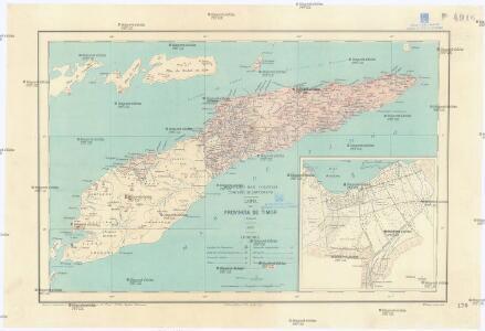 Carta da provincia de Timor