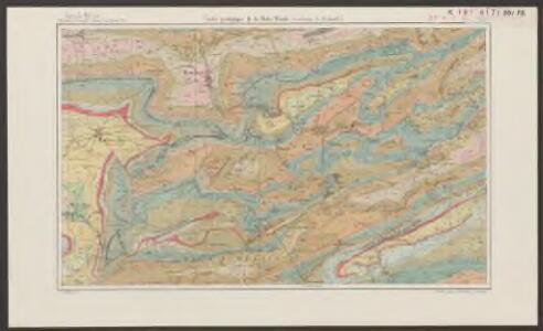 Carte géologique de la Hohe Winde (environs de Beinwil)