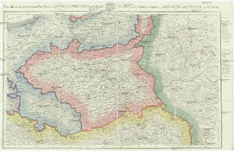 Neue militairische Situations- und Post-Carte von Polen und Preussen