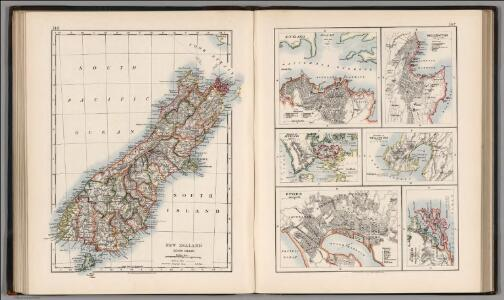 New Zealand (South Island).  Auckland.  Wellington.  Dunedin.