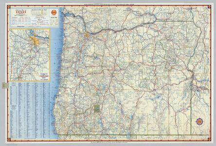 Shell Highway Map of Oregon.