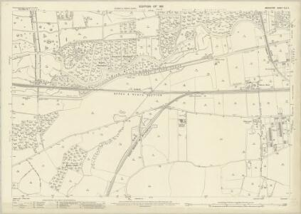 Berkshire XLII.4 (includes: Enborne; Newbury; Speen) - 25 Inch Map