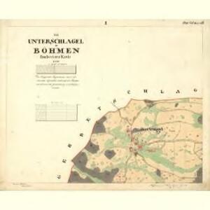 Unter Schlagel - c1273-1-001 - Kaiserpflichtexemplar der Landkarten des stabilen Katasters