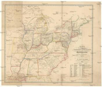 Karte der katholischen Diocesen und deren Missionen in Nordamerika nach den neuesten geographischen Angaben