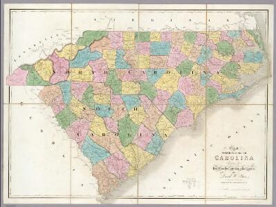 Map of North And South Carolina.