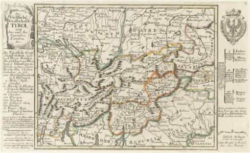 Die Fürstliche Graffschafft Tyrol mitt Inn und Anliegenden Laendern &c.