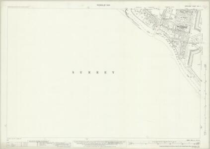 Middlesex XXV.11 (includes: East Molesey; Thames Ditton; Twickenham St Mary The Virgin) - 25 Inch Map
