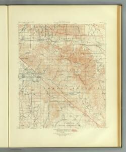 San Jacinto quadrangle showing San Andreas Rift, Mission Creek Fault.