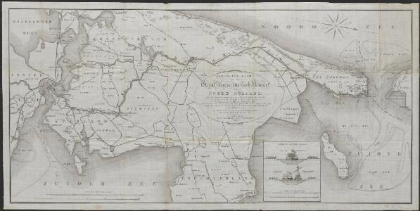 Algemeene kaart van het Groot Amsterdamsch Kanaal door Noord Holland : voor de koopvaardijvaart en s' Konings Marine tusschen het Y en de reede van Texel, ondernomen in 1819 en voltooid in 1825