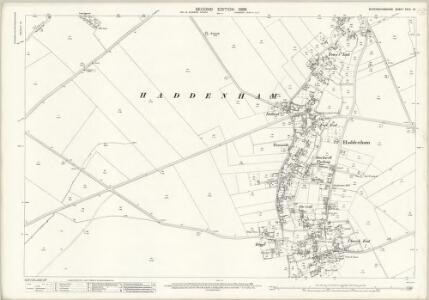 Buckinghamshire XXXII.12 (includes: Haddenham) - 25 Inch Map