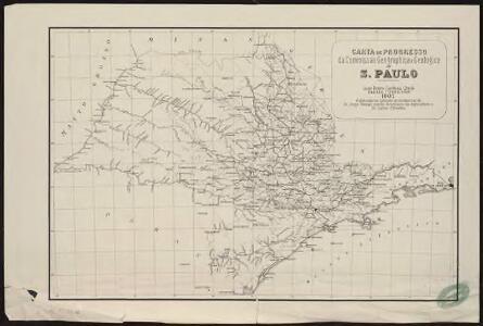 Carta de progresso da Commissao Geographica e Geologica de S. Paulo