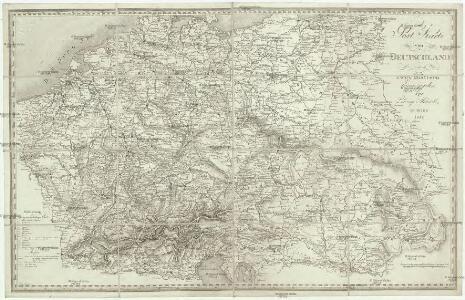 Post Karte von Deutschland in zwey Blättern