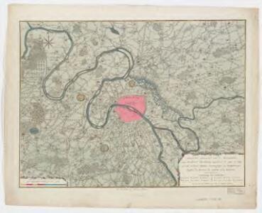 Nieuwe kaart van de buitenstreeken van Parys : meetkundig opgenomen in 1792 en 1793 met alle de nieuwe sterkten, verschansingen en versperringen tusschen de rivieren de Seine en de Marne