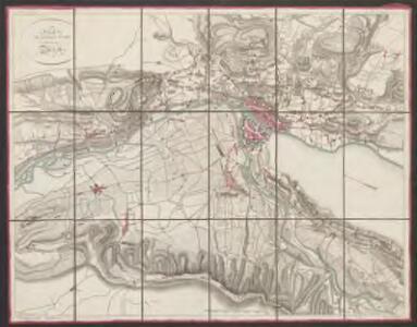 Plan de la ville et des environs de Zürich