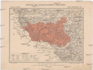 Generální mapa okresního hejtmanství Domažlického
