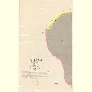 Studeney (Studeny) - c7502-1-001 - Kaiserpflichtexemplar der Landkarten des stabilen Katasters