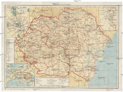 Turistická mapa Rumunska